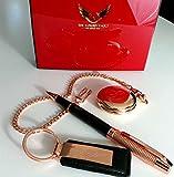 007 James Bond Collection Rose Gold Taschenuhr Schlüsselanhänger und Kugelschreiber, Geschenkset