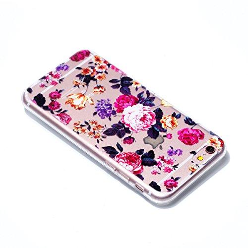 Coque Pour iPhone 6/6s, HLZDH mignon Premium Gel TPU Souple Silicone Transparent Clair Bumper Protection Housse Arrière Étui Pour iPhone 6/6s + Stylus image-3