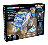 Laser Pegs Monster Rally Fire's Fury Green Monster Wrecker Destroyer The Beast Mini Race Car Large Selection Of Alternative Blocks Fast Light Sources LED