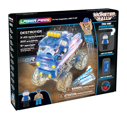 Laser Pegs 18203 Destroyer/Blue Monster Juguetes