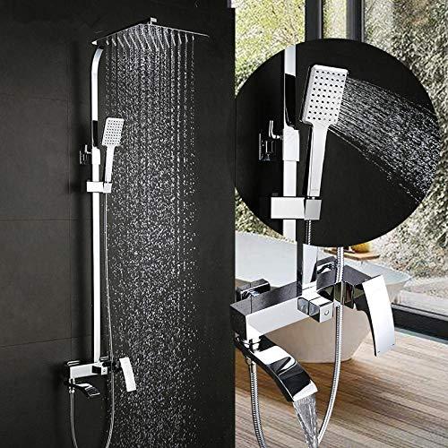 Dusche wasserhahn set bronze wasserfall wand badewanne wasserhahn mischbatterie dusche kopf chrome Bad Dusche set G2407 G2407-8 (Dusche Kopf Wasserhahn Set)