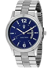 Swiss Trend Blue Dial Day And Date Analog Watch For Men - OLST2084