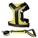 Haustier Brustgeschirr Hundeleine Brustgeschirr Verstellbare Atemschutzweste,Yellow,XL