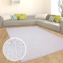 Teppich Shaggy Hochflor Einfarbig Flokati Für Verschiedene Zimmer Günstig  Angebot Weiß 300x400 Cm