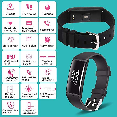 Huhuswwbin Fitness Tracker, Willful Orologio Fitness Inseguitore Sportivo Impermeabile del Pedometro del Monitor di Pressione Sanguigna di Frequenza Cardiaca Dell'Orologio Intelligente
