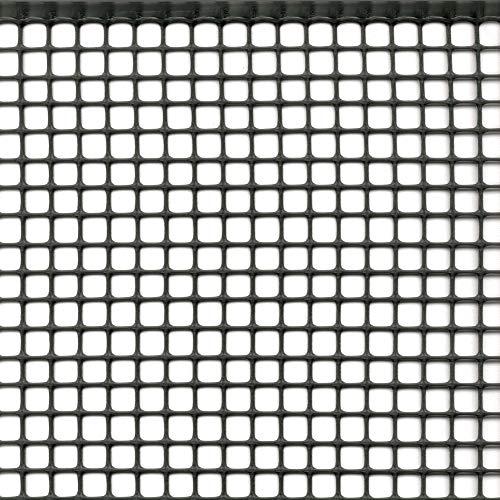 Rete Protettiva Plastica Maglia Quadrata per Balconi Cancelli e Recinzioni Tenax Quadra 10 Grigio Antracite 100 x 5 m
