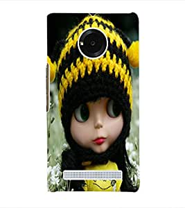 Fuson 3D Printed Cute Doll Designer Back Case Cover for Yu Yuphoria - D740