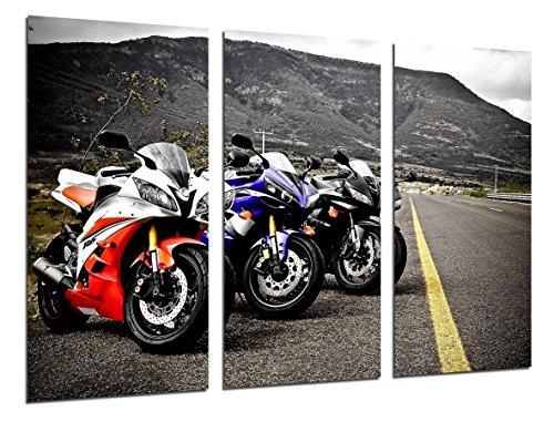 Poster Moderno Fotografico Motos de Carreras Yamaha, Carretera, 97 x 62 cm,...