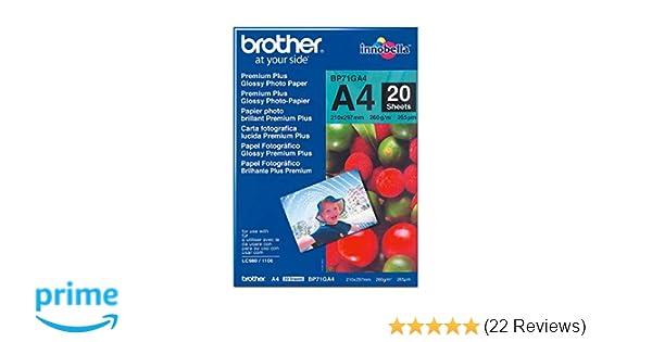 Brother BP71GP20 Fotopapier A6 20BL 260g//qm f/ür MFC-6490CW DCP-375CW 6890CDW