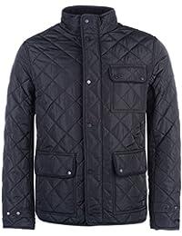 Firetrap Mens Kingdom Jacket Quilted Coat Top Long Sleeve Zip Warm Tonal