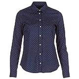 GANT Polkadot Stretch Broadcloth Hemden Damen Blau-Punkte(410) - DE 38 - Hemden