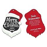 40 x Lasergeschnittene Weihnachtskarten Firmen Geschäftlich Business Grußkarten Weihnachten - Weihnachtsmann