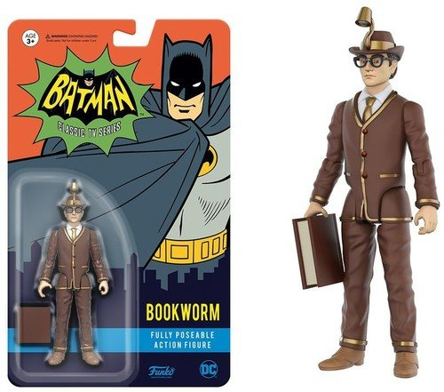 DC Comics Batman Classic TV Series Bookworm Fully Poseable Action-Figur