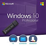 Windows 10 Professional 32/64Bit Badge-Art® USB-Stick 100% Bootfähig mit Lizenzschlüssel