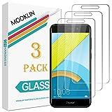 [Pack de 3] MOOKLIN Verre Trempé Huawei Honor 6C Pro, [ANTI RAYURES] Film Protection écran en Verre trempé pour Huawei Honor 6C Pro