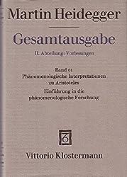 Gesamtausgabe, Bd. 62: II, Abteilung - Vorlesungen. Phänomenologische Interpretationen zu Aristoteles