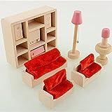 Generic Hölzernes Puppenhaus Möbel Miniatur Holz Spielset für Kinder Kinderspiel Spielzeug von TheBigThumb