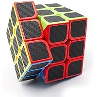 3x3x3 Speed Cubo Etiqueta de fibra de carbono para Smooth Magic Cube Rompecabezas
