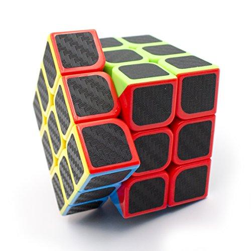 Preisvergleich Produktbild 3×3×3 Speed Cube, Carbon Fiber Sticker Twisty Puzzle für Kinder Intelligenz Entwicklung, Speed Cubing Anfänger oder Puzzle Enthusiasten (3×3×3 Carbon Fiber)