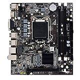 GCDN H55 Scheda Madre, Professionale Computer Desktop Scheda Madre HDMI LGA 1156 Doppio Canale DDR3 Scheda Principale Alte Prestazioni PC Scheda Madre con SATA Cavo - Come Foto, 19.7x17cm