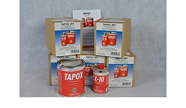 6 Sets Fertan Tapox 2 Komponenten Epoxy Tankversiegelung Tank Rost Auto Motorrad Tankbeschichtung Innenbeschichtung Tankrestaurierung Auto