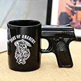 ufengke® 500Ml Kreative Pistole Geformte Keramik Tasse Teetasse Kaffeetasse Milchbecher,A