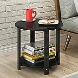 CTGAB laptoptisch- Klotz-Kleiner runder Tabelle Kleiner Couchtisch-beiläufige Seitentisch-Sofa-Balkon-Seiten (Farbe : B, größe : 51 * 38CM)