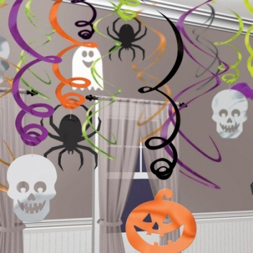 Amscan International 679468 Dekorieren zum Aufhängen Swirl Halloween Party Set