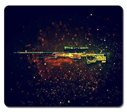 Individuelle Rechteck rutschfeste Gummi groß Mousepad AWP Dragon Lore Sniper Rifle Counter Strike wasserabweisend Gaming Maus Pad Mauspad Gaming groß groß, Maus Pads