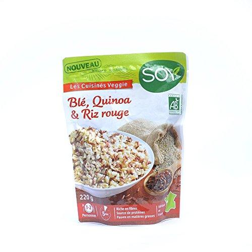Soy - Ble Quinoa Riz Rouge 220G