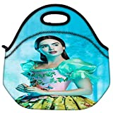 Snoogg Shy Chic Travel Outdoor Carry Lunch Bag Picnic Tote Box Container Zip Out Removable Carry Lunchbox Handle Tote Lunch Bag Food Bag For School Work Office