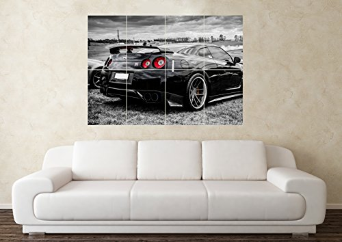 large-nissan-skyline-gtr-r35-black-32-33-34-drift-car-wall-poster-art-picture-print