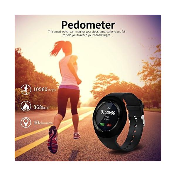 Fitness Tracker,Gearlifee IP68 Waterproof Reloj pulsera con monitor de ritmo cardíaco, presión arterial, oxígeno en la sangre, monitor de sueño, SMS, podómetro para iPhone Android(Banda de acero) 4