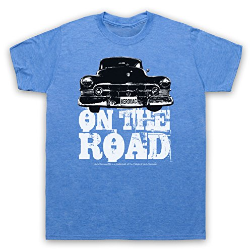 Jack Kerouac On The Road Car Herren T-Shirt Jahrgang Blau
