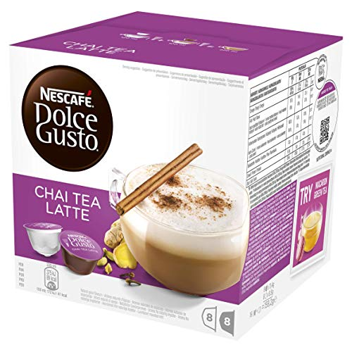 NESCAFÉ DOLCE GUSTO Chai Tea Latte Coffee Pods, 16 Capsules (Pack of 3 - Total 48 Capsules, 24 Servings)