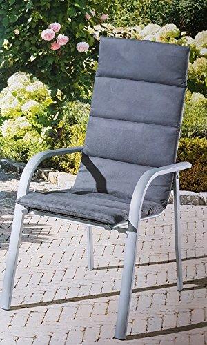 Hochlehner-Auflage grau Sitzkissen Sitzauflage Hochlehnerauflage GARDENLINE