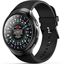 LEMFO LES2 - 3G Smartwatch Phone Android 1GB + 16GB Monitor de pulso cardiaco GPS Wifi Bluetooth Negro