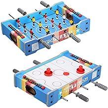 Juego de mesa 2 en 1 Juego de futbolín y air hockey, colorido