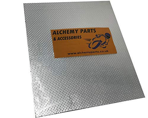 Alchemy Parts & Accessories Selbstklebend Auspuff / Motor Alu Reflektierende Hitzeschutz Folie 40 X...