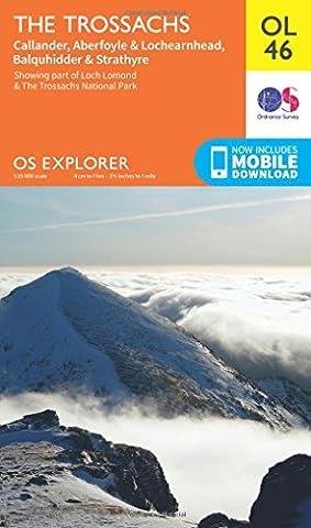 OS Explorer OL46 The Trossachs (OS Explorer Map)