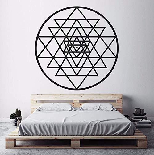 Dalxsh Vinyl Wandaufkleber Heilige Geometrie Abnehmbare Aufkleber Salon Wohnzimmer Schlafzimmer Dekoration Kunst 57X57 Cm