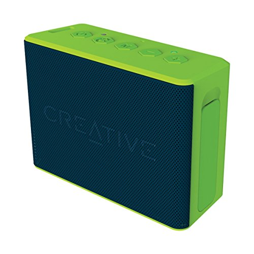 Creative MUVO 2c - Leistungsstarker, kompakter, wetterfester Wireless Bluetooth Lautsprecher (für Apple iOS/Android Smartphone, Tablet/MP3) grün (Generalüberholt)