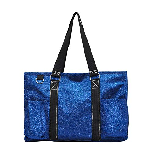 NGIL Aufbewahrungstasche mit Reißverschluss, Blau (Glitter Royal), Medium -
