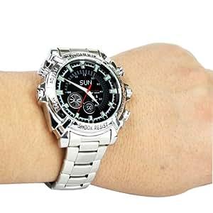 Flylink - Montre espion étanche avec bracelet en métal - Capacité 16GB