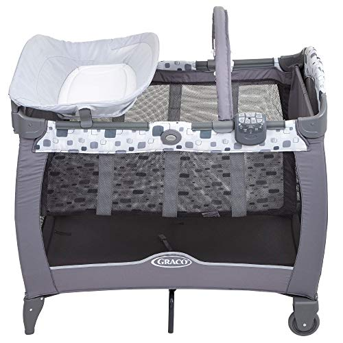 Graco Contour Electra Travel Cot, Block Party  Allison Baby UK Ltd