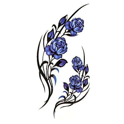 Oottati piccolo sveglio tatuaggio temporaneo rosa blu (set di 2)