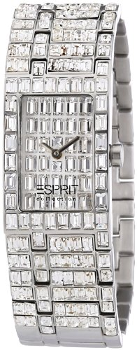 Esprit Collection Damen-Armbanduhr h-helena silver Analog Quarz Edelstahl EL101232F04