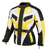 1535 Kinder Motorrad Jacke Textilmaterial Cordura600 Schwarz-Gelb-weiss 128