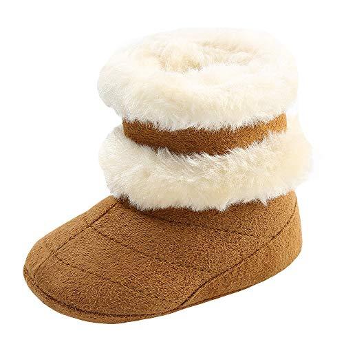 Jaysis Kleinkind Neugeborene Baby Mädchen Jungen Sneaker Lauflernschuhe Stiefel und Stiefeletten Winter Warm, Prewalker Schuhe Rutschfest Rutschfest Atmungsaktiv Weich Beiläufig