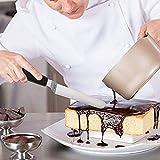 G.a HOMEFAVOR 4-Teiliges Edelstahl Winkelpalette Set für Torte mit Komfortablen Griff, Beständiges Zubehör Zum Dekorieren von Kuchen